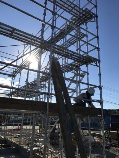 施工実績/池田警察署 厚内駐在所 仮設足場工事
