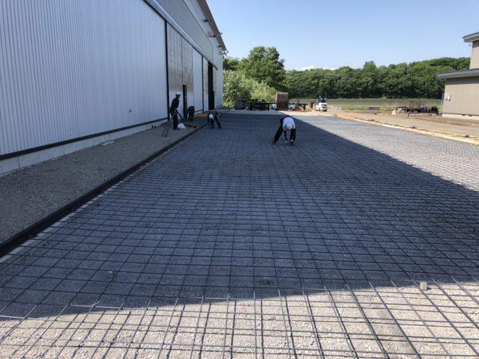 施工実績/土間コンクリート工事(排水溝付き)